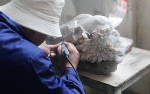 菊花石雕:用生命创作艺术
