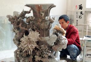 菊花石艺术品的雕刻风格