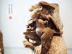 菊花石雕喜鹊的吉祥寓意