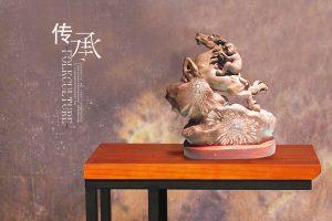 菊花石雕十二生肖的美好寓意
