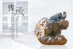 菊花石雕貔貅摆放有何讲究