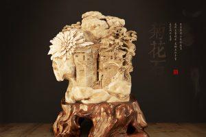 鉴赏菊花石雕艺术品该从哪些方面切入?