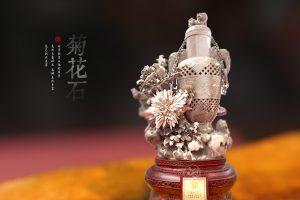 菊花石雕艺术作品配座的原则