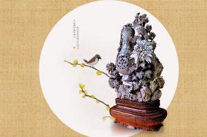 品赏菊花石雕艺术之美